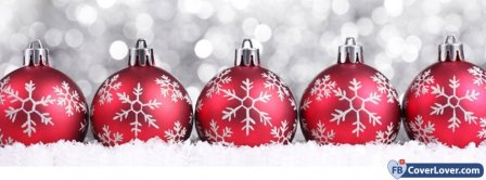 Christmas Snowballs Ornement Facebook Covers