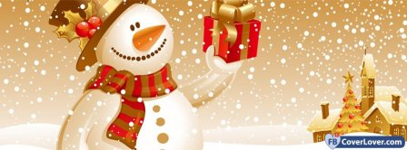 Christmas Snow Man Facebook Covers