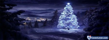 Christmas Tree In Snow  Facebook Covers