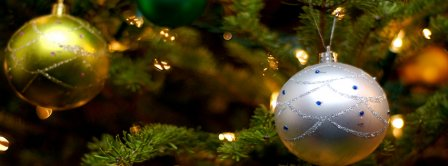 Christmas Tree Ornaments Lights Facebook Covers
