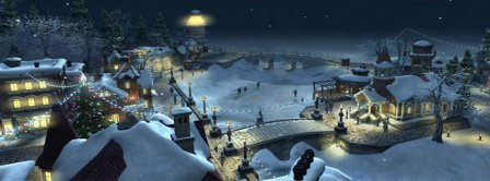 Christmas Village Facebook Covers