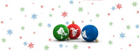 Christmas Ornaments Red Blue Green Facebook Covers