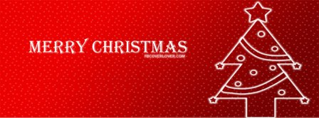 Christmas Ornaments Red Tree Facebook Covers