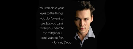 Close Your Eyes Johnny Deep Facebook Covers
