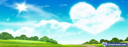 Cloud Heart Scenic  Facebook Covers