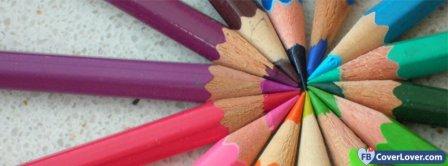 Color Pencils Facebook Covers