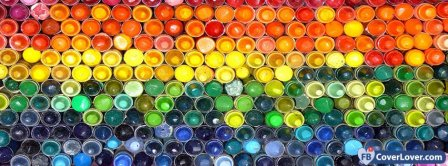 Colorful Bottles Wall Facebook Covers