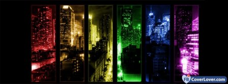 Colorful City View   Facebook Covers