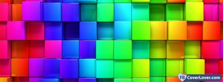 Colorful Cubes  Facebook Covers