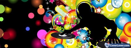 Colorful Dj Music Facebook Covers