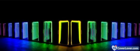 Colorful Lights Doors  Facebook Covers