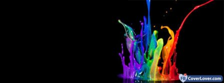 Colorful Paint Drop  Facebook Covers