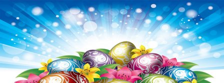 Colorful Easter Eggs Facebook Covers
