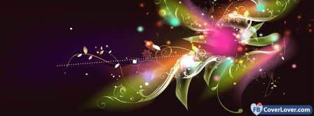 Colorful Flower  Facebook Covers