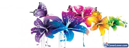 Beautiful Colorful Flowers  Facebook Covers