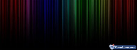 Colorful Lights Lines Rainbow  Facebook Covers
