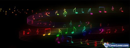 Colorful Music Notes  Facebook Covers