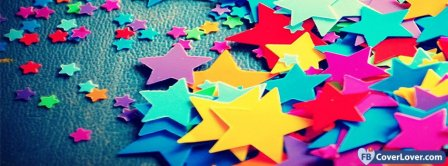 Colorful Paper Stars  Facebook Covers