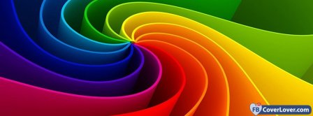 Colorful Spiral Facebook Covers