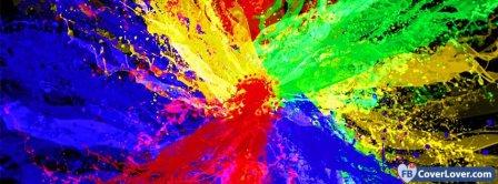 Colorful Splash  Facebook Covers