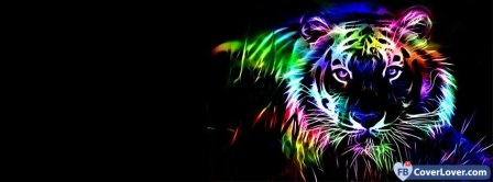 Colorful Tiger  Facebook Covers
