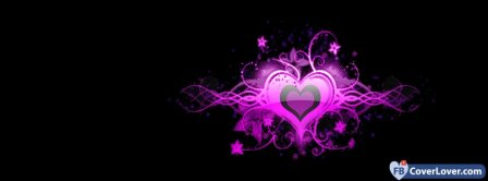 Colorful Cool Heart 4  Facebook Covers