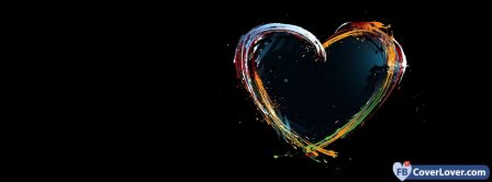 Colorful Cool Heart 7  Facebook Covers