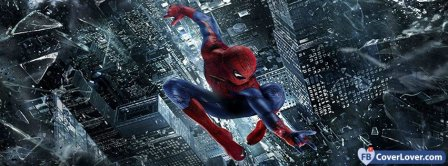 Spiderman Flying Facebook Covers
