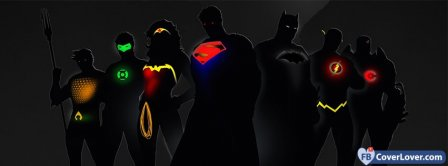 Superheros Logo Lights Facebook Covers