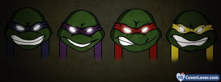 Turtles Ninja Heads Facebook Covers