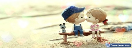 Cute Couple Kissing Facebook Covers