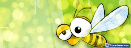 Cute Honey Bee Bzz  Facebook Covers