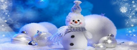 Cute Snowman Facebook Covers