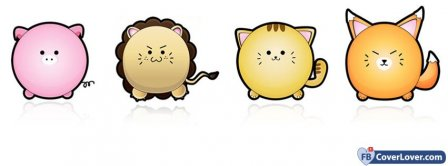 Cute Pig Lion Cat Facebook Covers