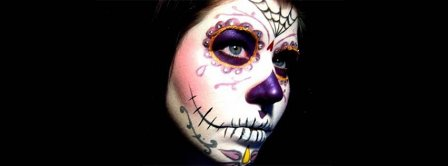 Day Of The Dead Costume Girl Facebook Covers