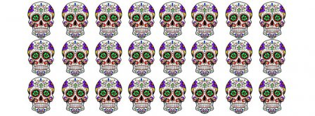 Day Of The Dead Skulls Facebook Covers