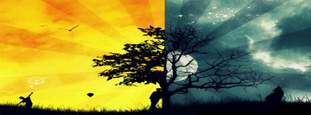 Day And Night Colors Facebook Covers