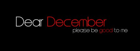 Dear December Facebook Covers