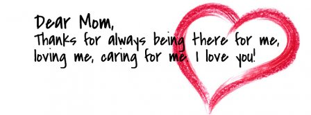 Dear Mom Mothers Day Facebook Covers