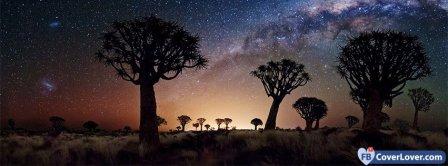 Desert Night Sky Facebook Covers