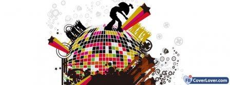 Colorful Disco Globe  Facebook Covers