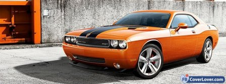 Dodge Challenger Orange Facebook Covers