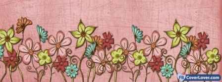 Drawing Flowers Facebook Covers