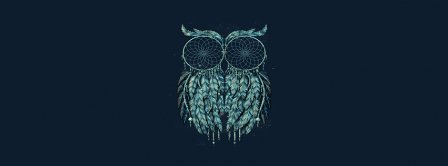 Dreamcatcher Owl Shaped Facebook Covers