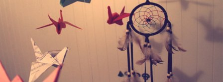Dreamcatcher And Paper Brids Facebook Covers