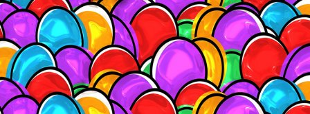 Easters Painted Eggs 2021 Facebook Covers