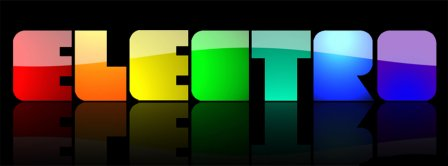 Electro Letters Colorful  Facebook Covers