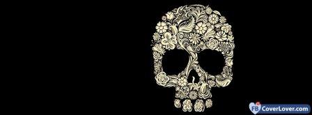 Flowers Skull Facebook Covers