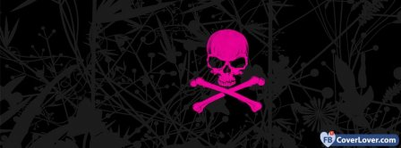 Emo Pink Skull  Facebook Covers