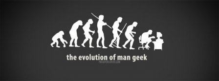 Evolution Of Man Geek Facebook Covers